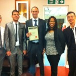 Impressionable Minds team collect their award